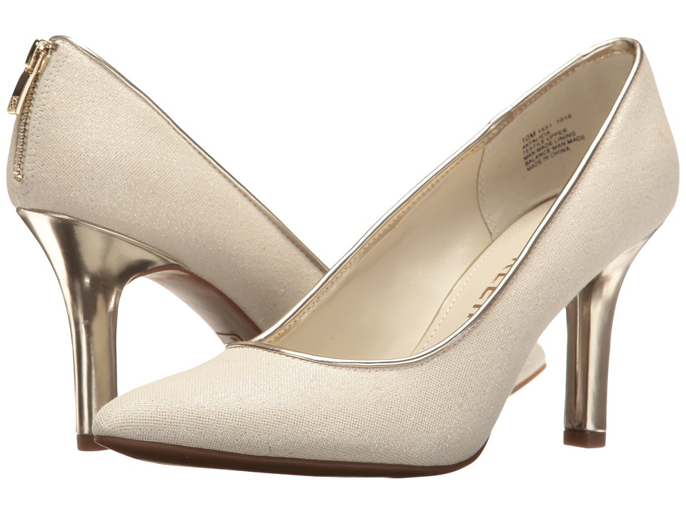 Anne Klein Falicia (Light Natural/Silver/Silver Fabric) High Heels