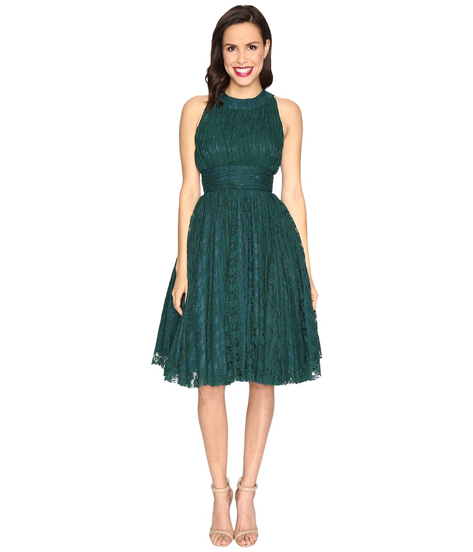 Unique Vintage Lace Rooselvelt Cocktail Dress (Teal) Women