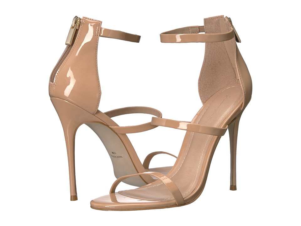 Massimo Matteo - 3 Band Stiletto (Nude Patent) Women's Shoes