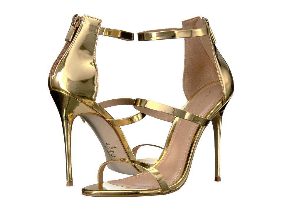 Massimo Matteo - 3 Band Stiletto (Gold Metallic) Women's Shoes