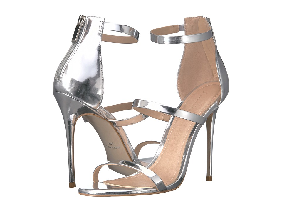 Massimo Matteo - 3 Band Stiletto (Silver Metallic) Women's Shoes