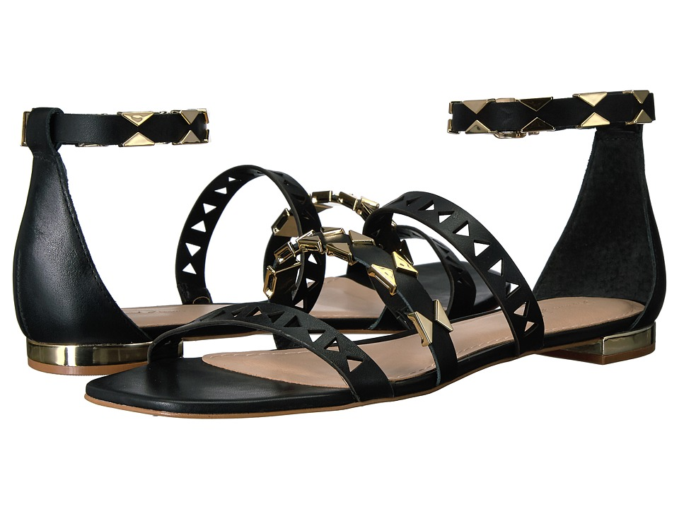 Massimo Matteo - 3 Band Ankle Strap (Black) Women's Shoes