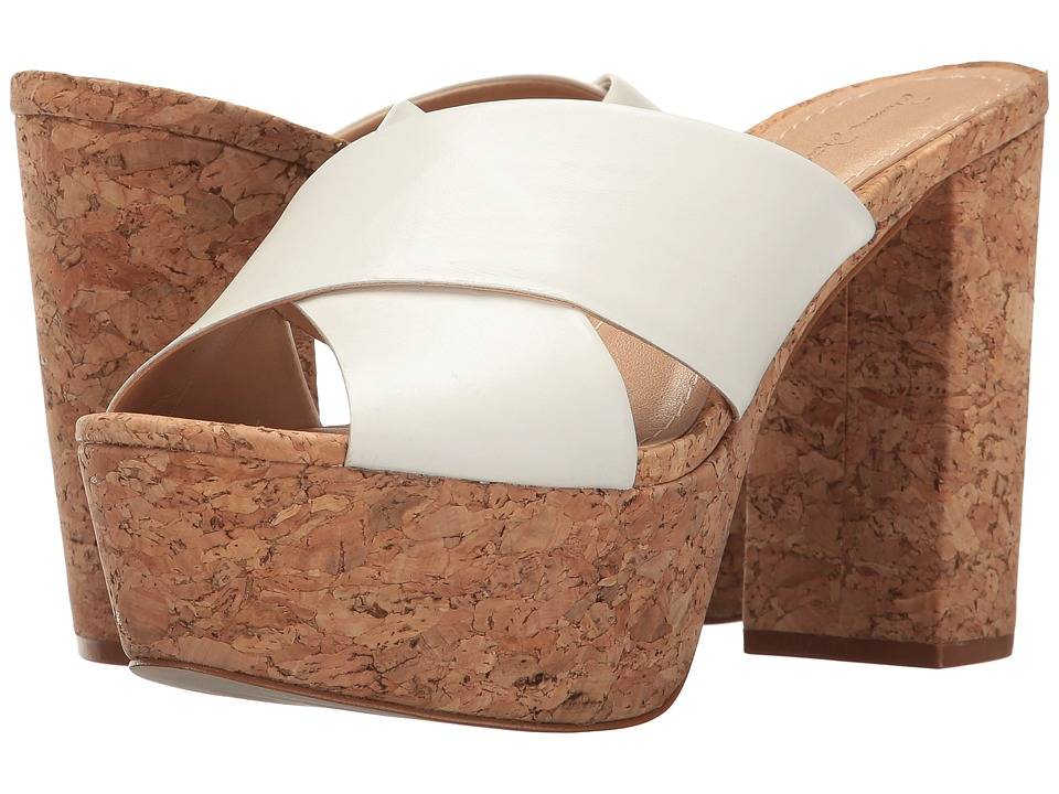 Massimo Matteo - Cork Platform Sandal (White) Women's Sandals