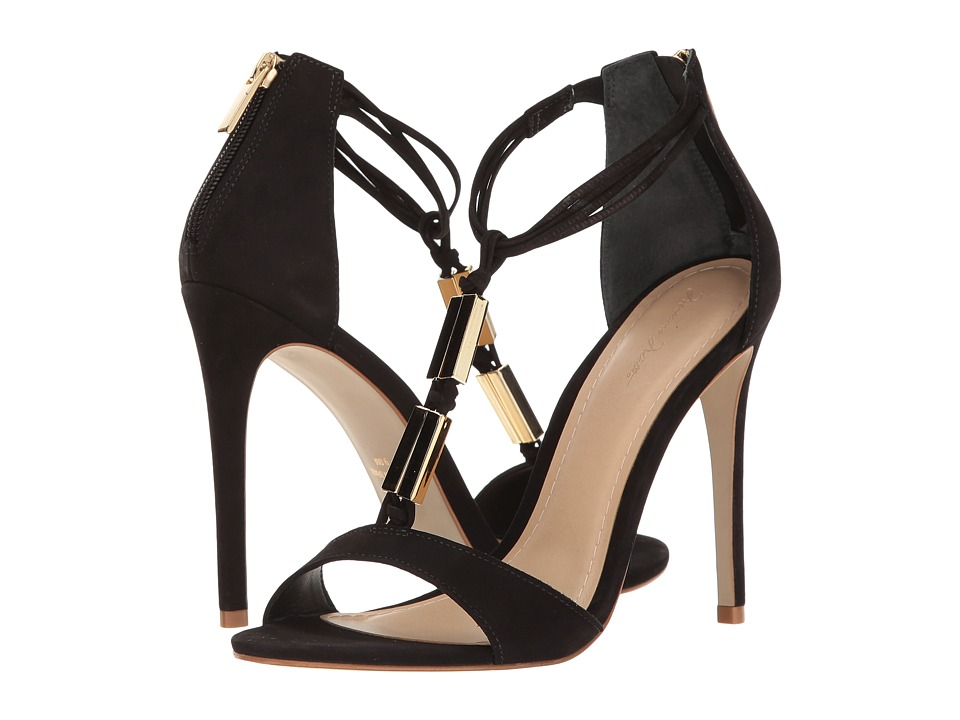 Massimo Matteo - Open Toe Stiletto (Black) Women's Toe Open Shoes
