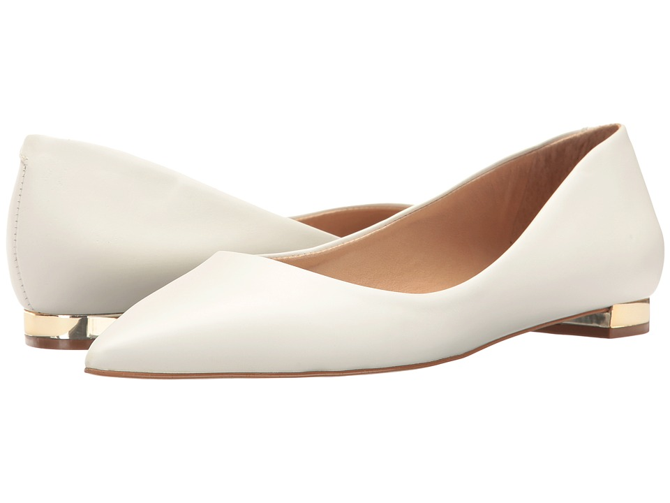 Massimo Matteo - Pointy Toe Flat 17 (White Leather) Women's Flat Shoes