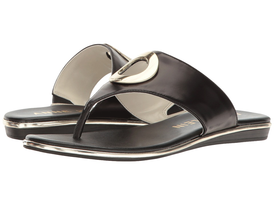 Anne Klein - Gia (Black Leather) Women's Shoes