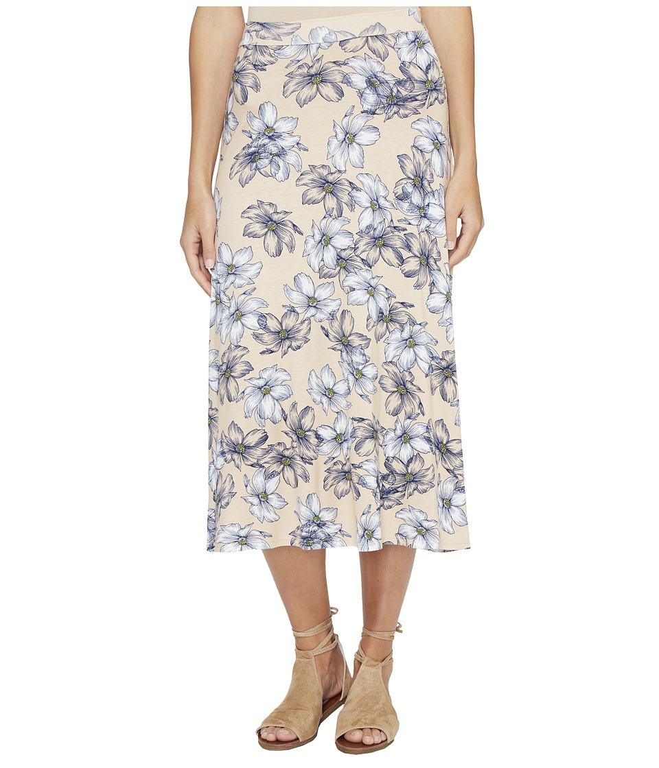 Clayton - Claude Midi Skirt (Bare Floral Sketch) Women's Skirt