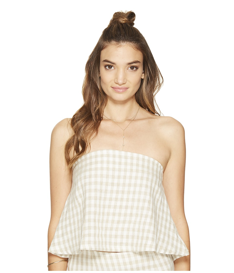 Clayton - Joy Top (Gingham) Women's Clothing