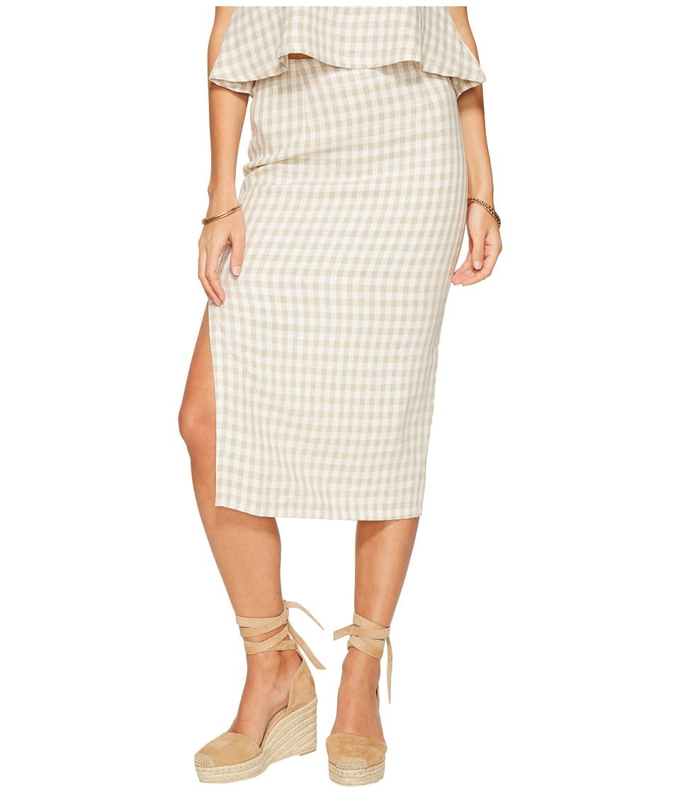 Clayton - Pencil Skirt (Gingham) Women's Skirt