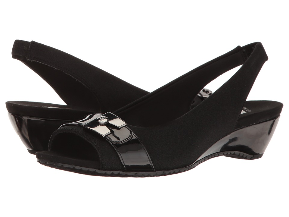 Anne Klein Helanna (Black/Black Fabric) Women