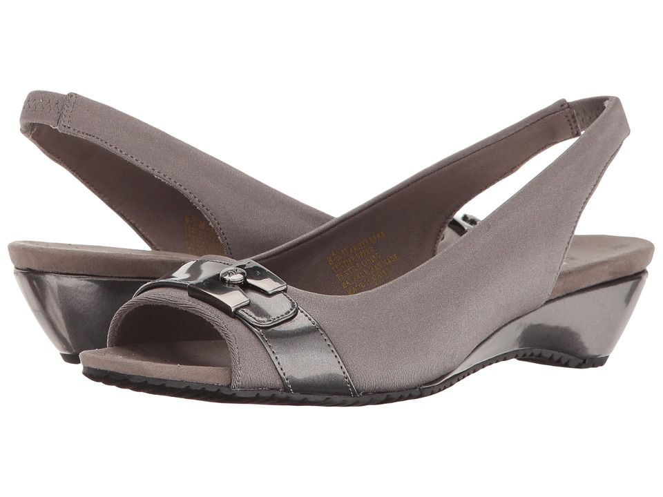 Anne Klein Helanna (Pewter/Pewter Fabric) Women
