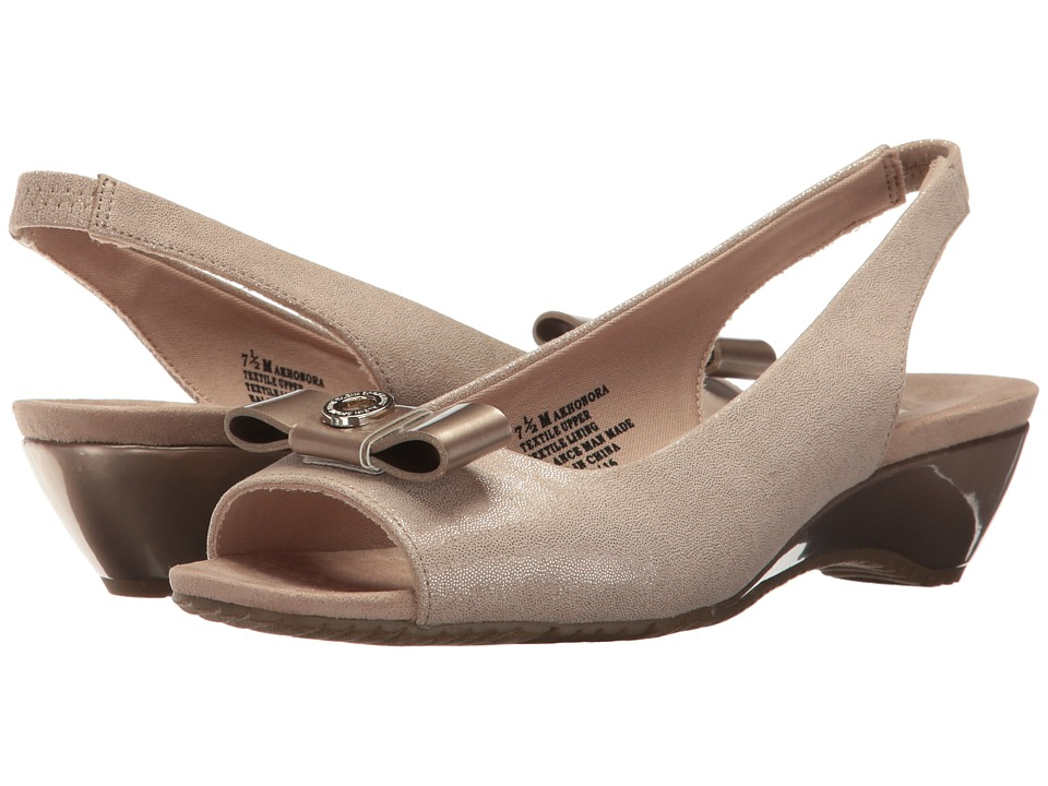 Anne Klein Honora (Light Gold/Light Pink Fabric) Women