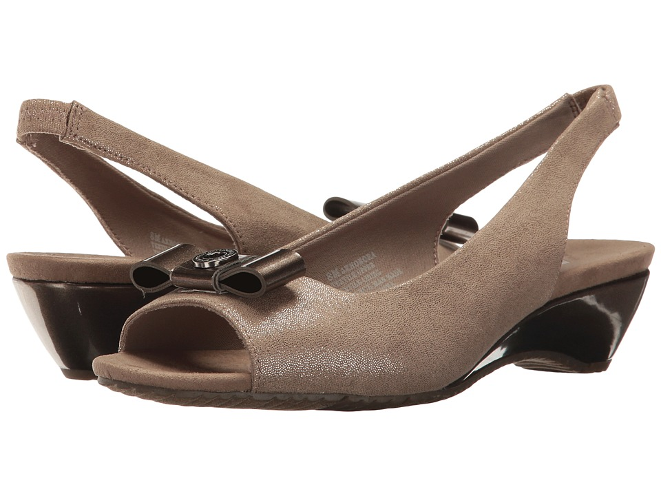 Anne Klein - Honora (Metallic Taupe/Metallic Taupe Fabric) Women's Shoes