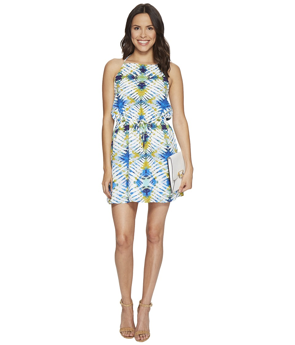 Jack by BB Dakota - Peggy Desert Oasis Printed Poly CDC Halter Dress (Bright White) Women's Dress