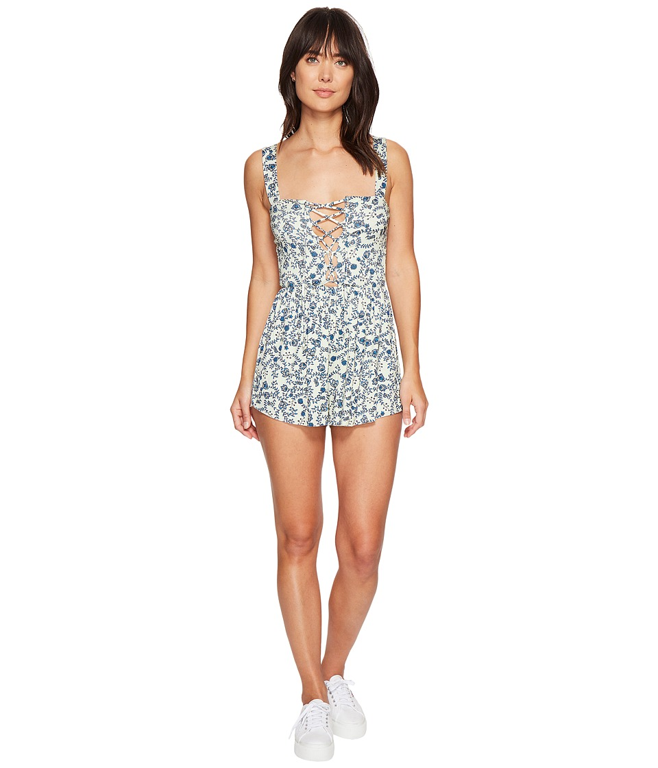 Clayton - Kizzy Playsuit (Sage Bellflower) Women's Jumpsuit & Rompers One Piece