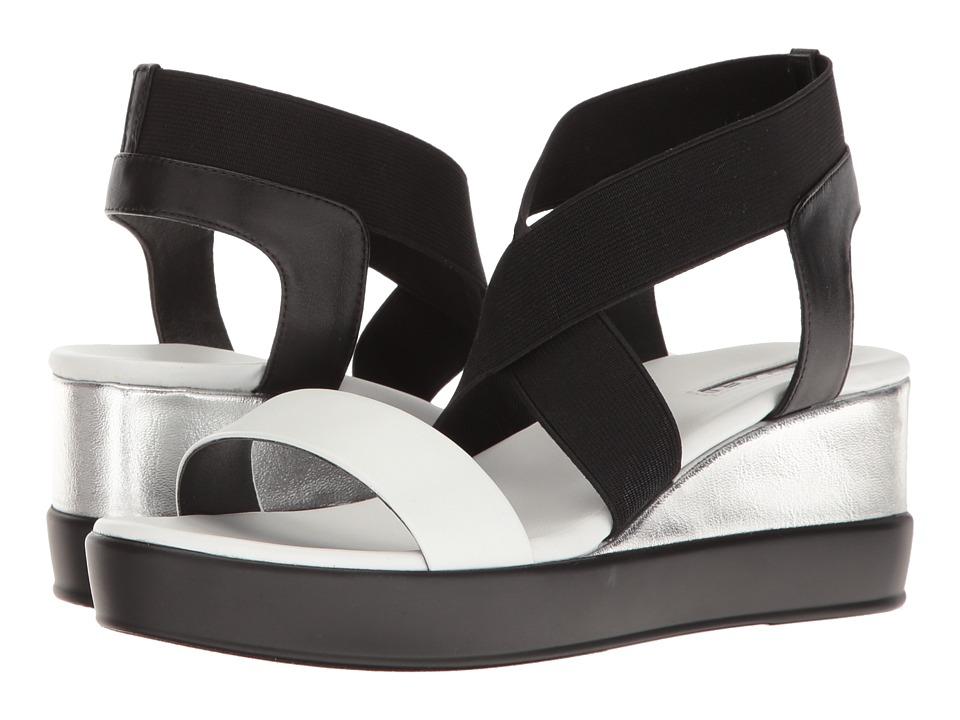 Tahari - Prince (Black/White/Silver Nappa/Metal) Women's Sandals
