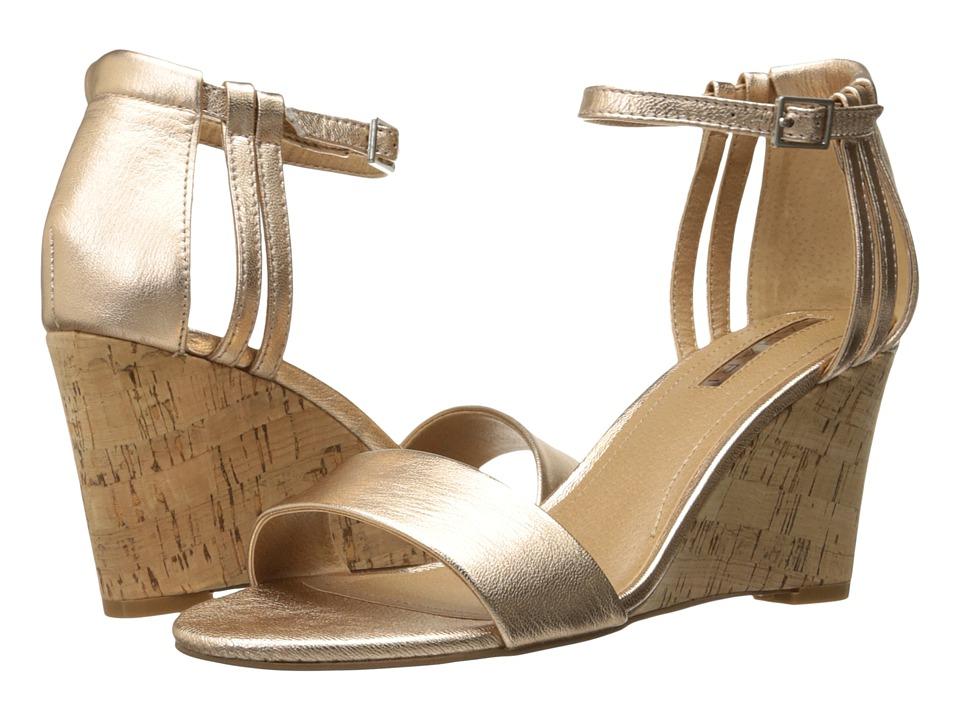 Tahari - Farce (Rose Gold Metal) Women's Wedge Shoes