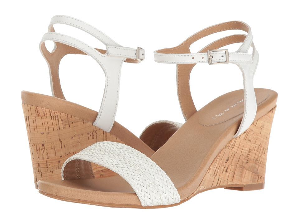 Tahari - Friend (White Woven Braid/Nappa) Women's Wedge Shoes