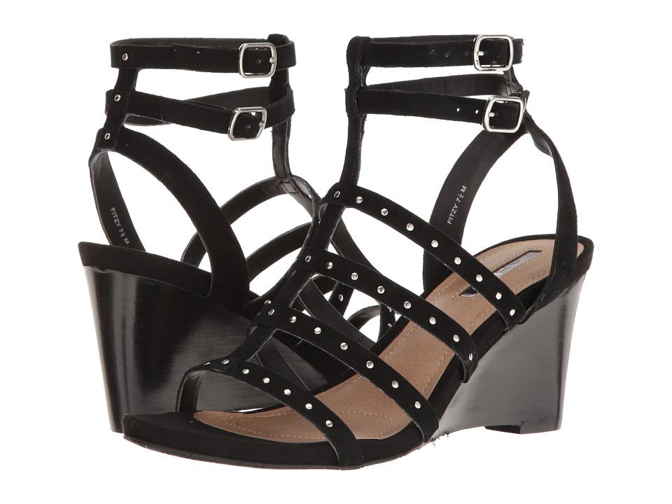 Tahari - Fitzy (Black Suede) Women's Wedge Shoes