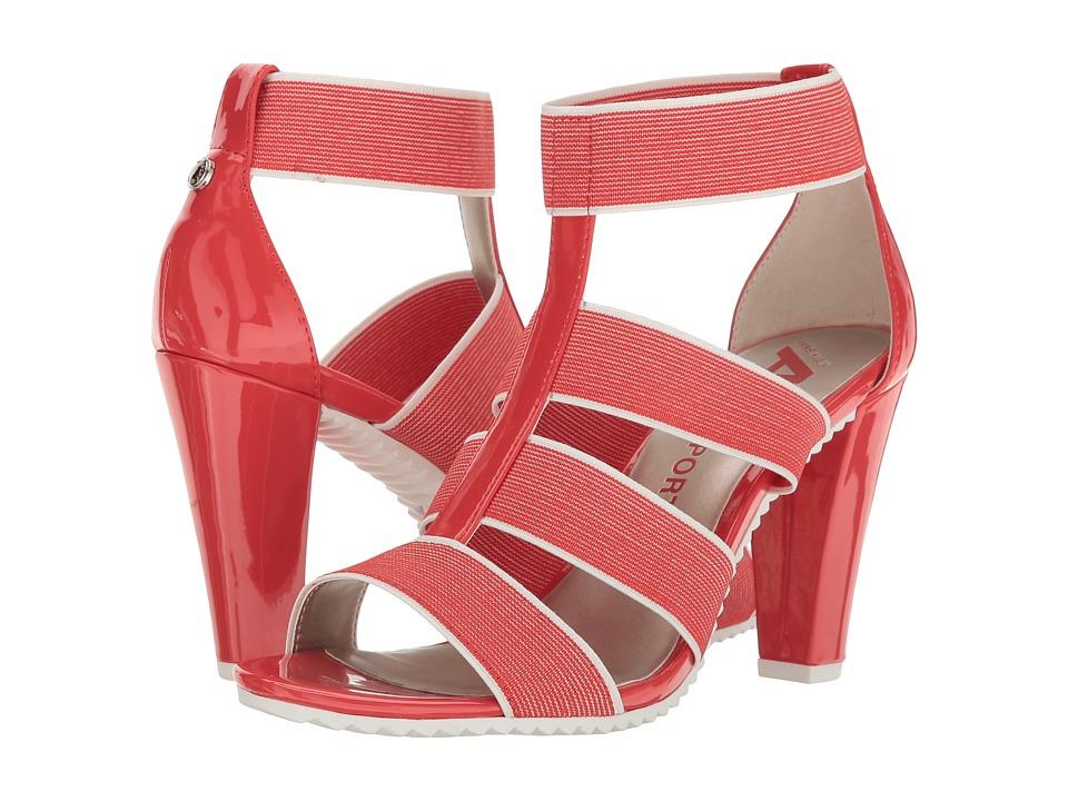 Anne Klein - Isadola (Medium Orange/White/Medium Orange Fabric) Women's Shoes