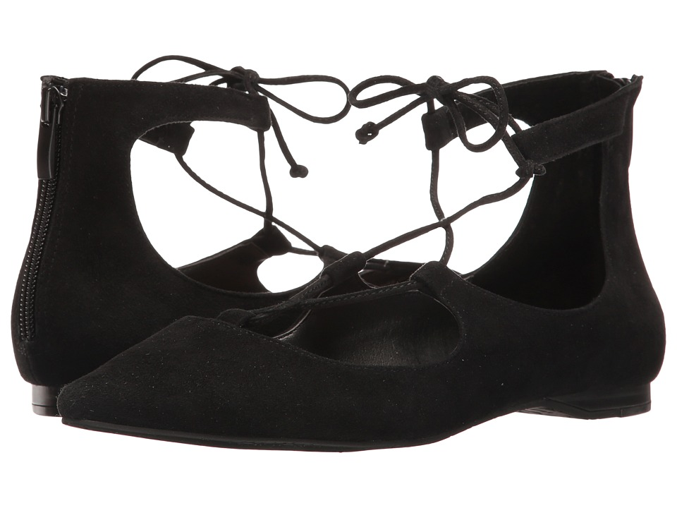 Tahari - Estyn (Black Kid Suede) Women's 1-2 inch heel Shoes