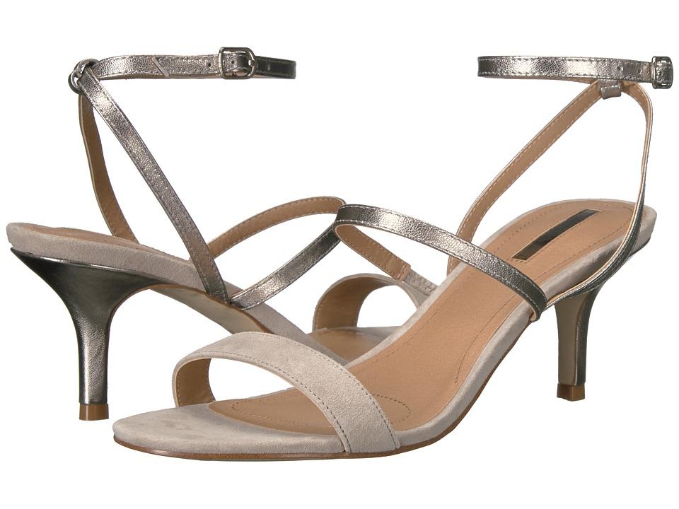 Tahari - Marcus (Stone/Feltro Suede/Jersey Metal) Women's 1-2 inch heel Shoes