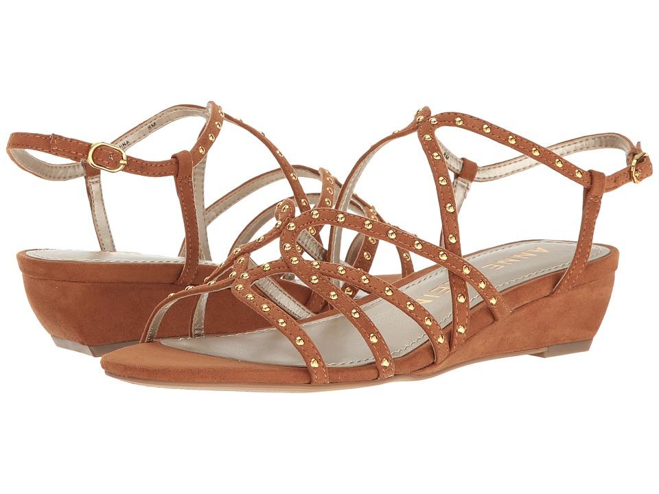 Anne Klein - Mallory (Medium Brown Fabric) Women's Shoes