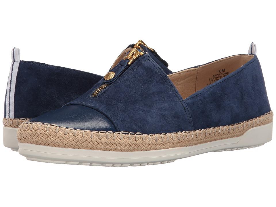Anne Klein - Zipdown (Dark Blue Multi Nubuck) Women's Shoes