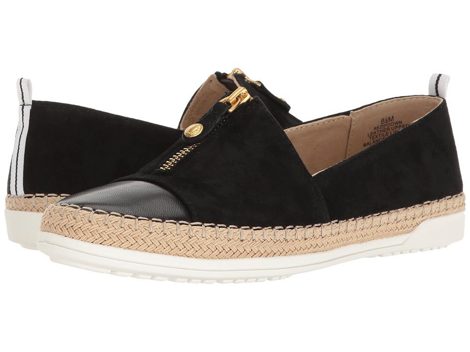 Anne Klein - Zipdown (Black Multi Nubuck) Women's Shoes