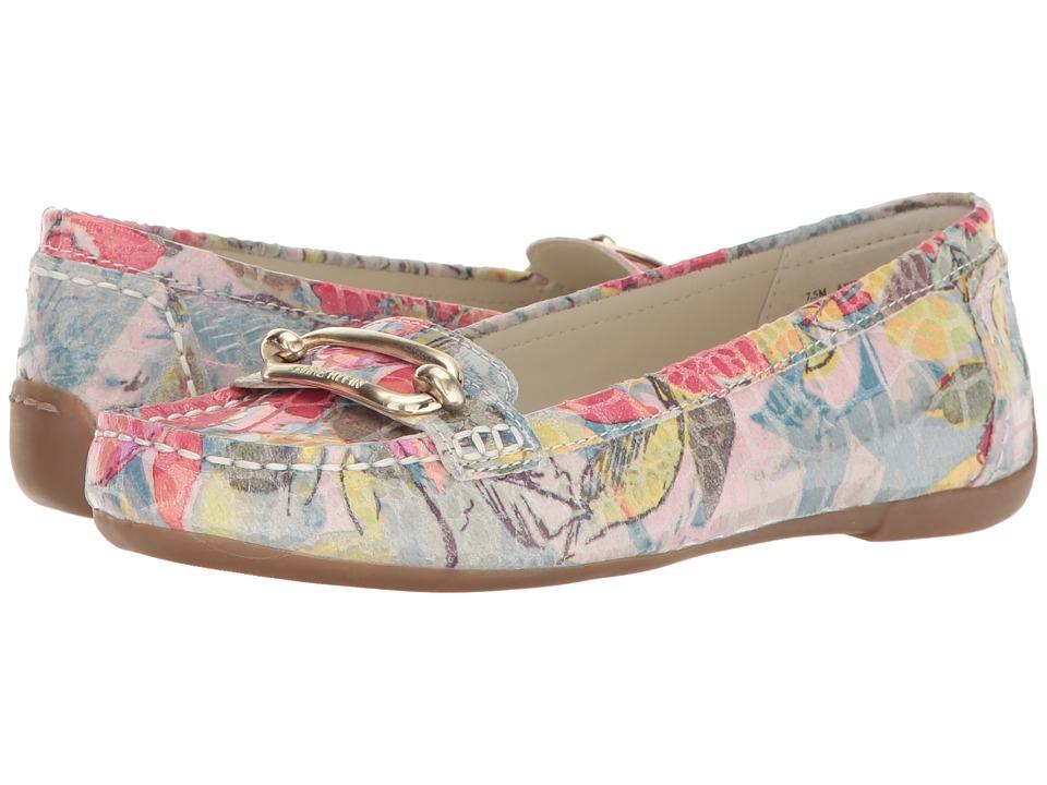 Anne Klein - Noris (Light Blue/Pink Multi Reptile) Women's Flat Shoes