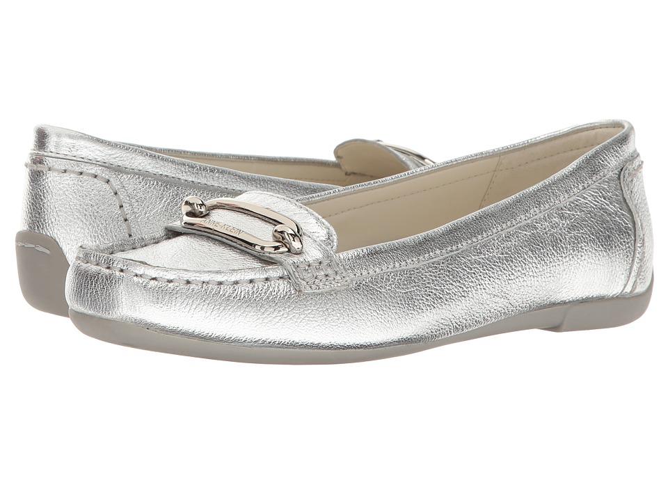 Anne Klein New York - Noris (Silver Leather) Women's Flat Shoes