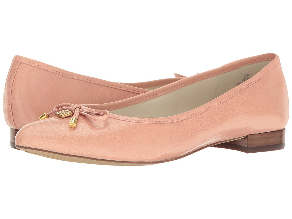 Anne Klein - Ovi (Light Pink Leather) Women's Flat Shoes