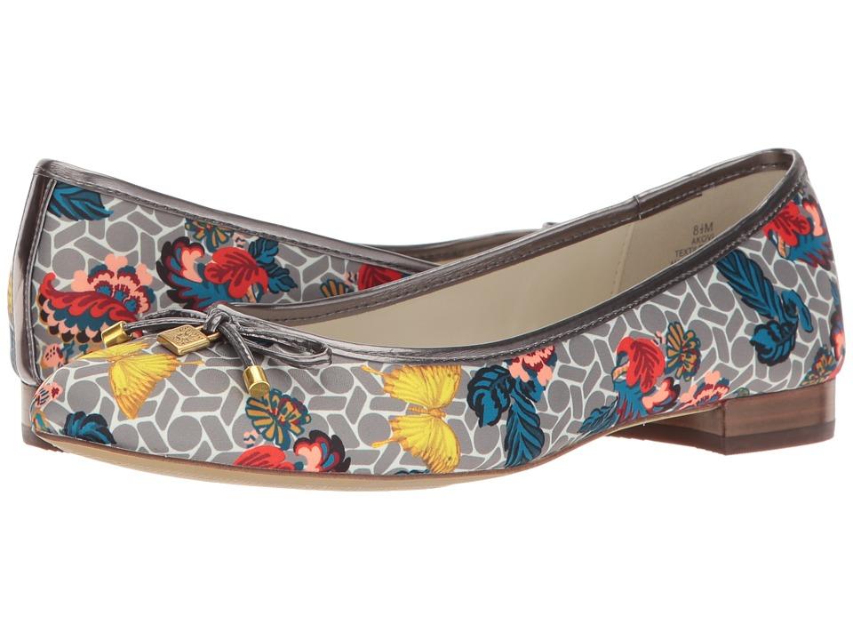 Anne Klein - Ovi (Grey Multi/Pewter Fabric Butterfly Print) Women's Flat Shoes