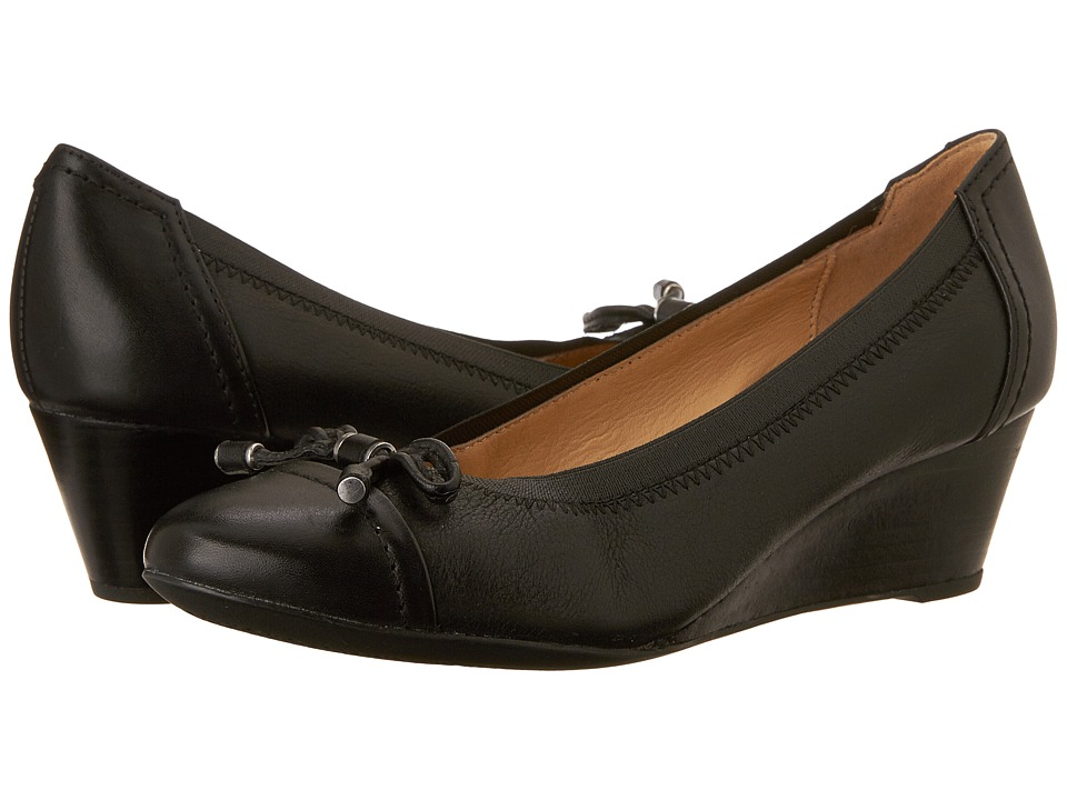 Geox - W FLORALIE 20 (Black) Women's Wedge Shoes