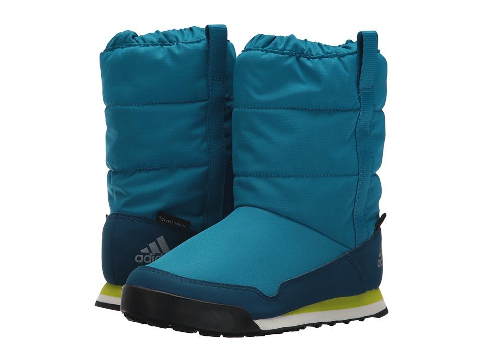 adidas Outdoor Kids CW Snowpitch Slip-On CP (Little Kid/Big Kid) (Mystery Petrol/Blue Night/Semi Solar Yellow) Boy