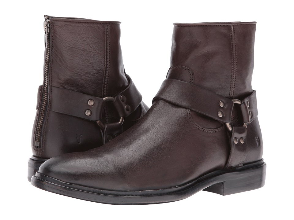 Frye - Patrick Harness (Charcoal) Men's Boots