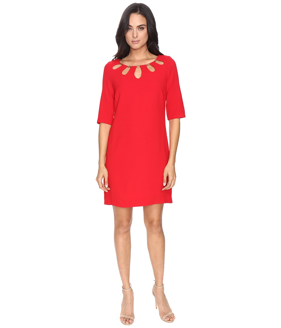 Sangria - Cut Out Chemise Dress (Red) Women's Dress