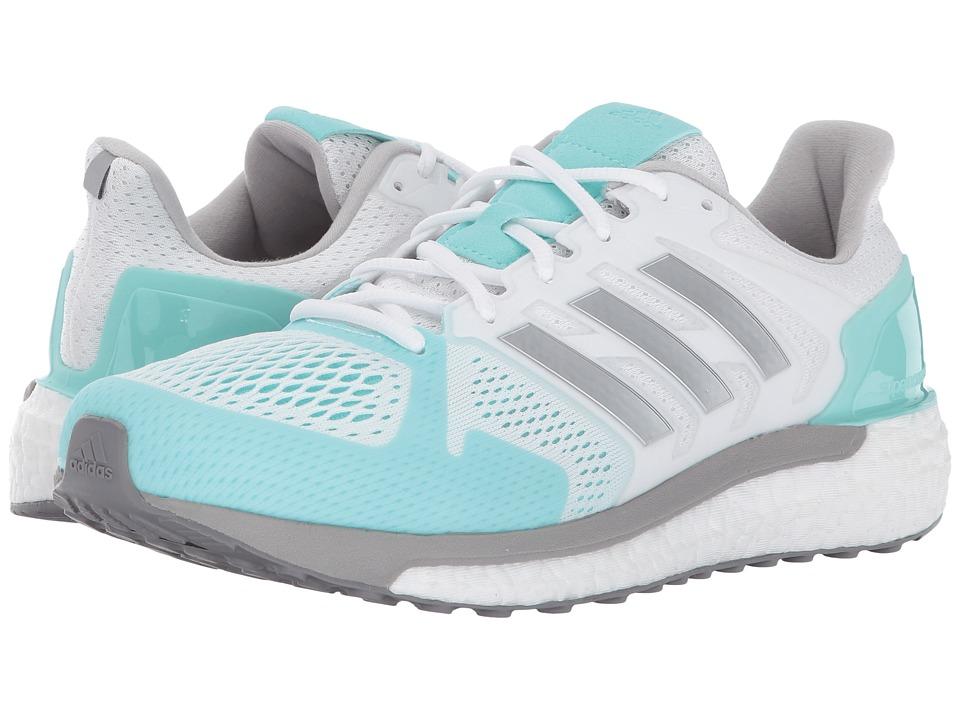 adidas Supernova ST (Footwear White/Silver Metallic/Energy Aqua) Women