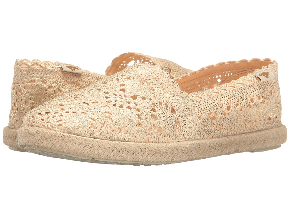 Rocket Dog - Acosta (Gold Coolie Crochet) Women's Slip on Shoes