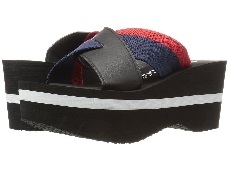 Rocket Dog - Radley (Navy Webbing Smooth) Women's Wedge Shoes