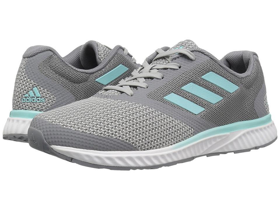 adidas - Mana Racer (Grey Two/Silver Metallic/Energy Aqua) Women's Running Shoes