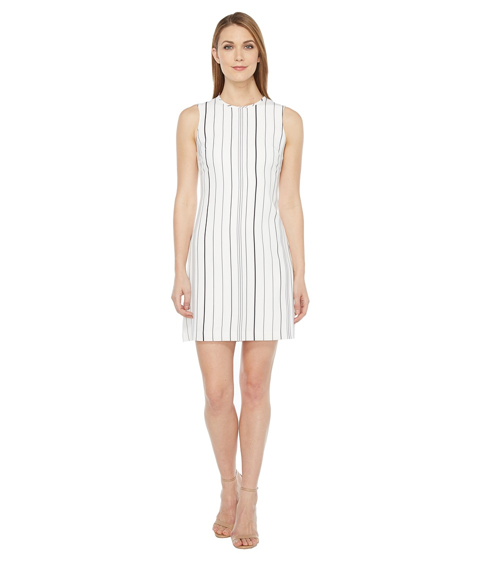 Calvin Klein Sleeveless Stripe Trapeze Dress
