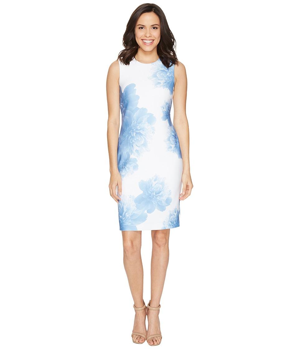 Calvin Klein - Sleeveless Sheath in Floral Print CD7M6V6N (Serene Multi) Women's Dress