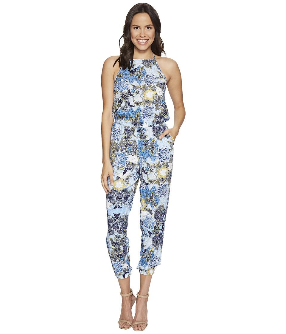 Jack by BB Dakota - Garnett Wandering Floral Printed Rayon Challis Jumpsuit (Cornflower Blue) Women's Jumpsuit & Rompers One Piece
