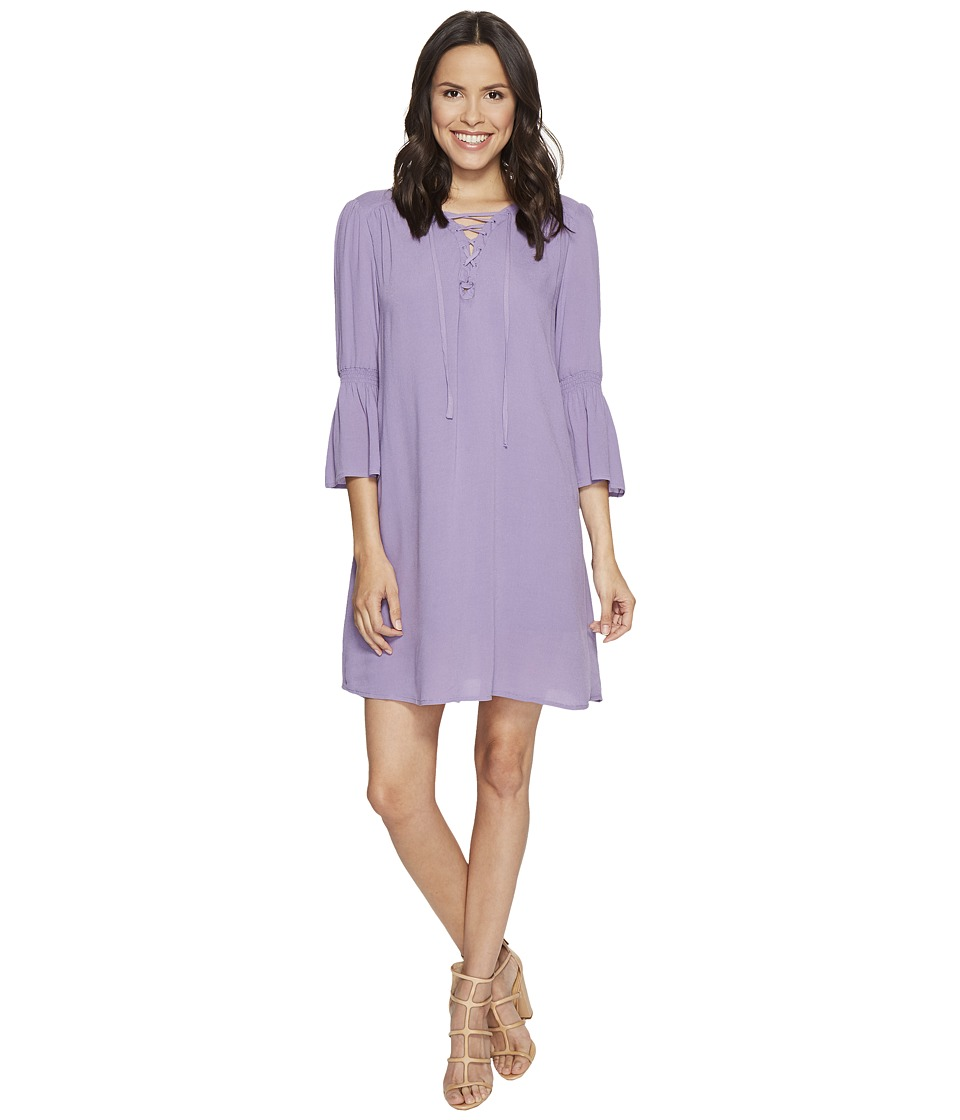 Jack by BB Dakota - Simone Rayon Crepe Lace Front Dress + Slip (Lavender Purple) Women's Dress