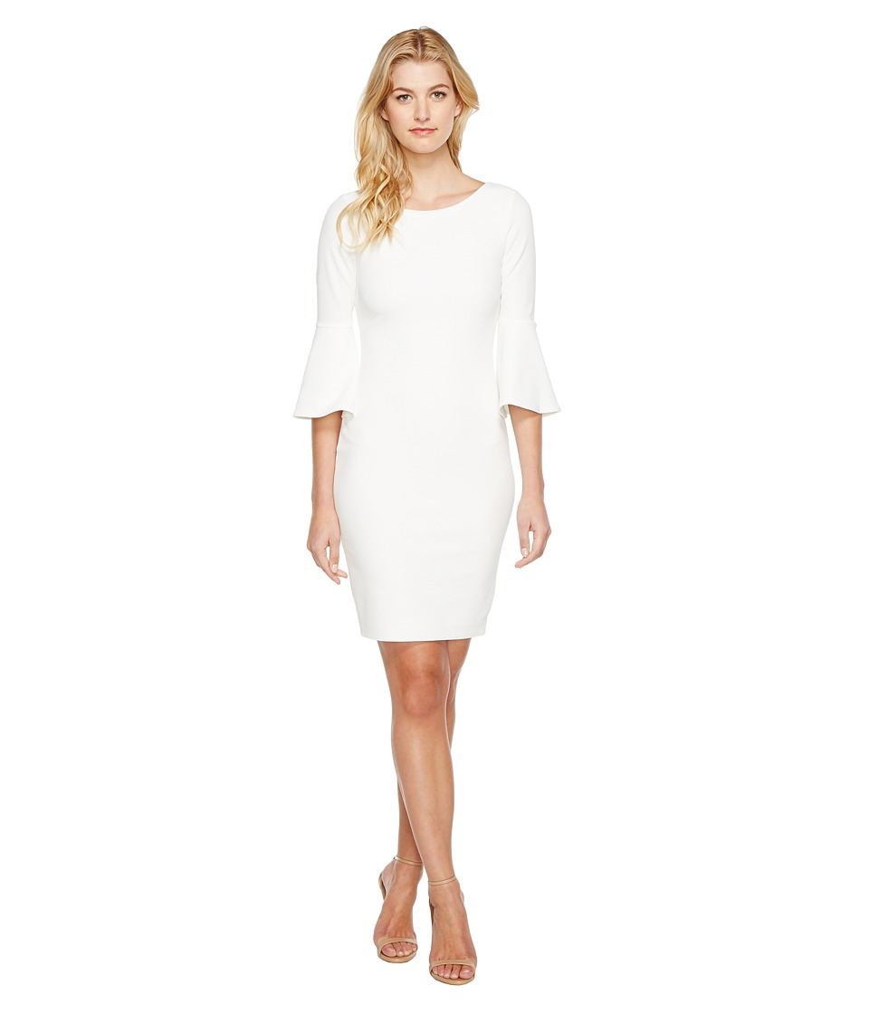 Calvin Klein - Bell Sleeve Sheath Dress CD7C133E (White) Women's Dress