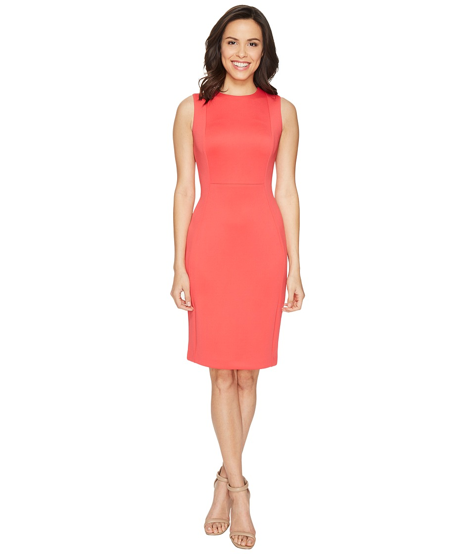 Calvin Klein - Princess Panel Sheath CD7M1A00 (Watermelon) Women's Dress