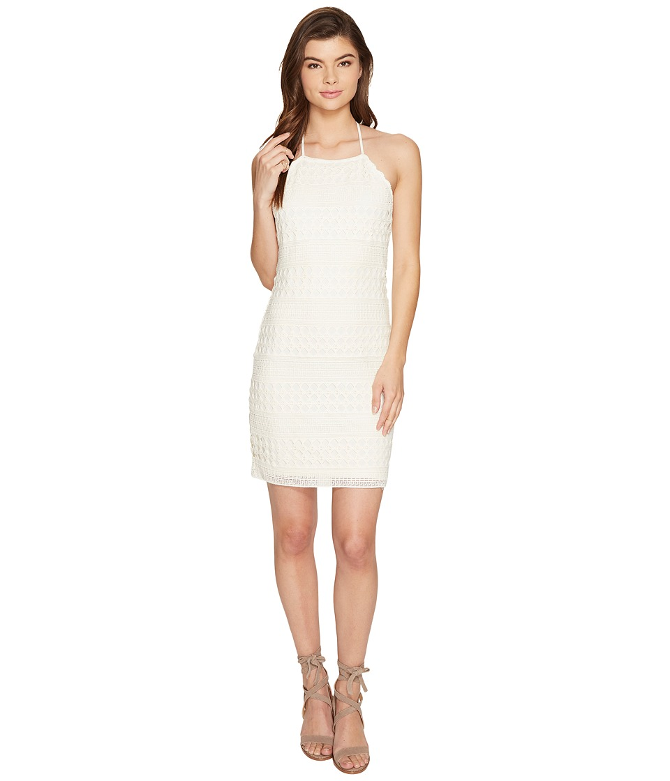 Jack by BB Dakota - Mona Crochet Lace Halter Dress (Ivory) Women's Dress