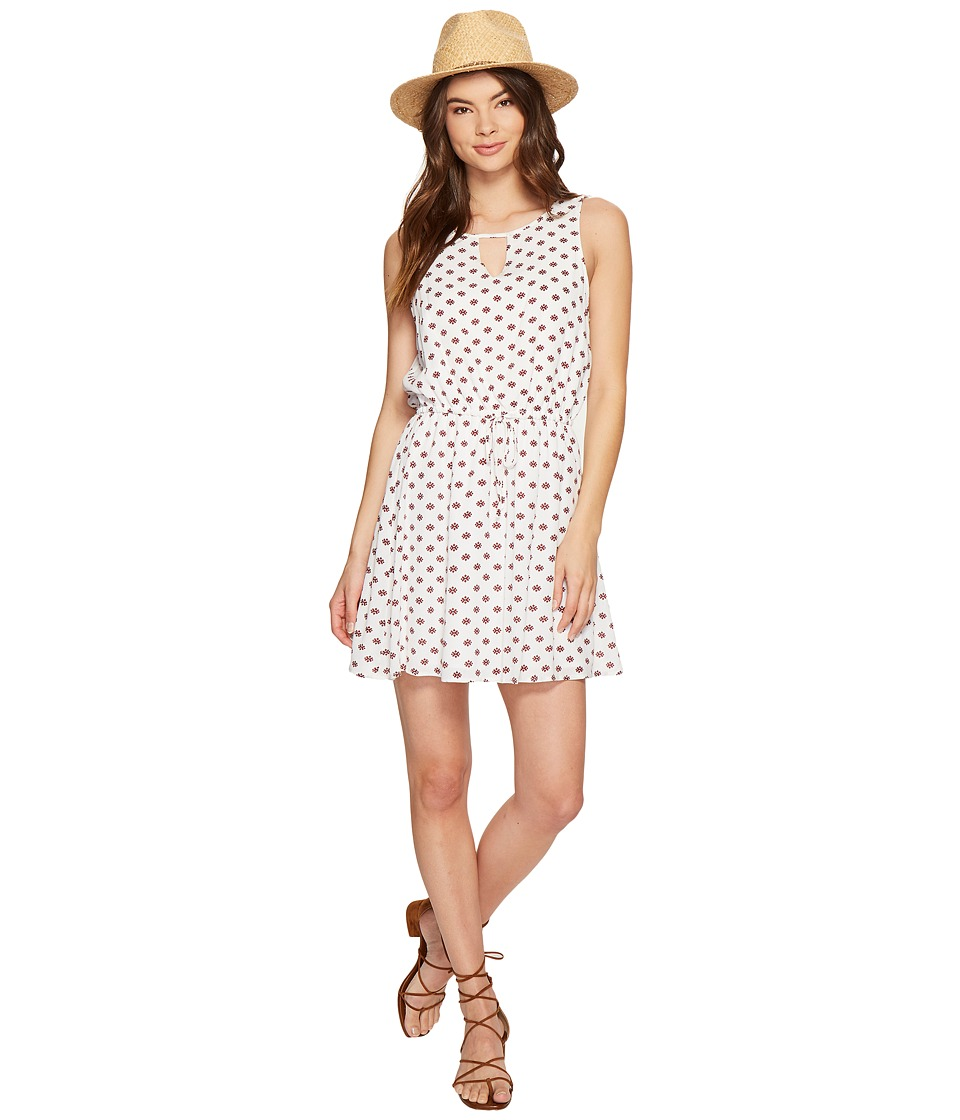 Jack by BB Dakota - Magali Printed Crinkle Poly Dress (Bright White) Women's Dress