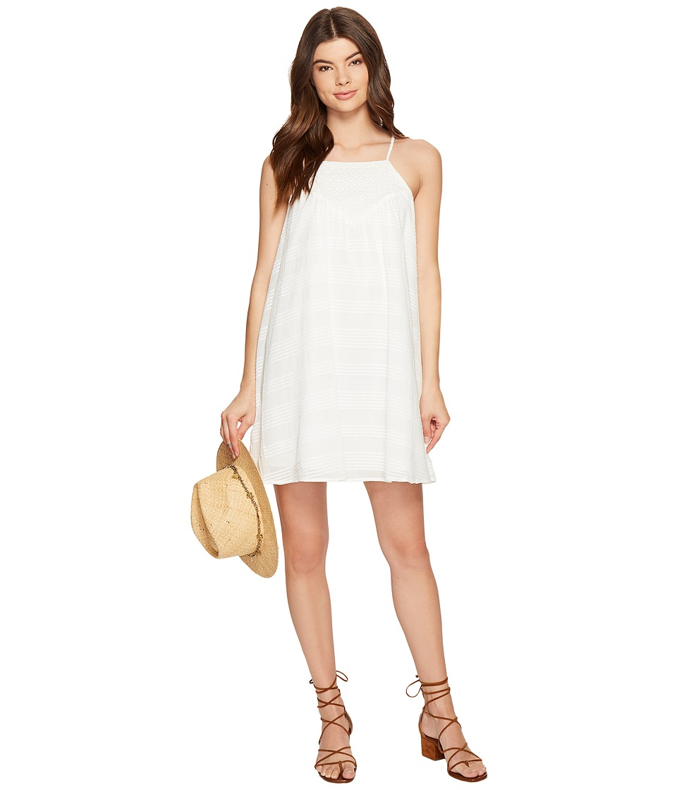 Jack by BB Dakota - Neilan Textured Cotton Dress with Cotton Eyelet Yoke (Bright White) Women's Dress